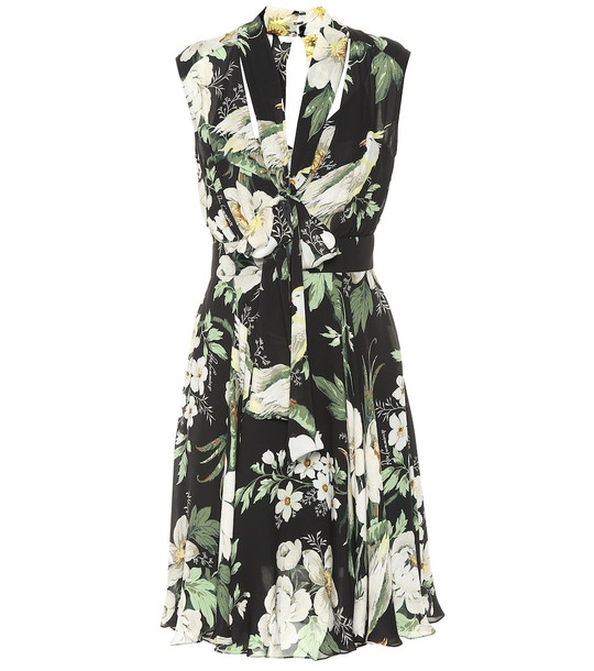Carolina Herrera Printed silk dress in black