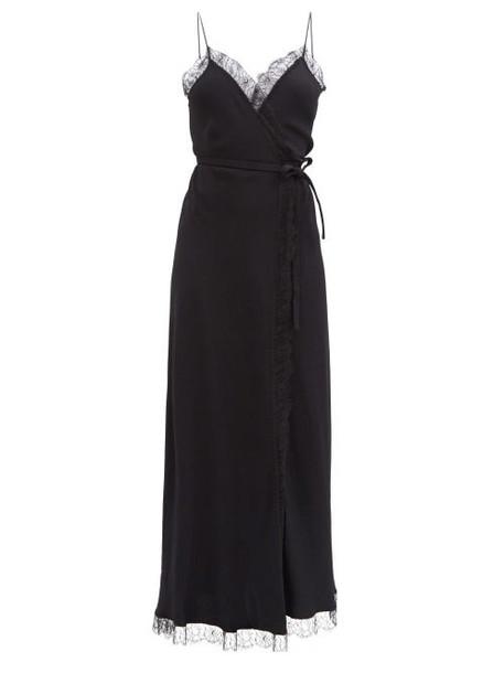 Julie De Libran - Jane Lace-trimmed Crepe Longline Dress - Womens - Black