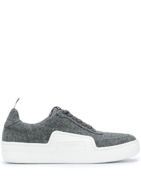 Thom Browne Basketball low-top sneakers in grey