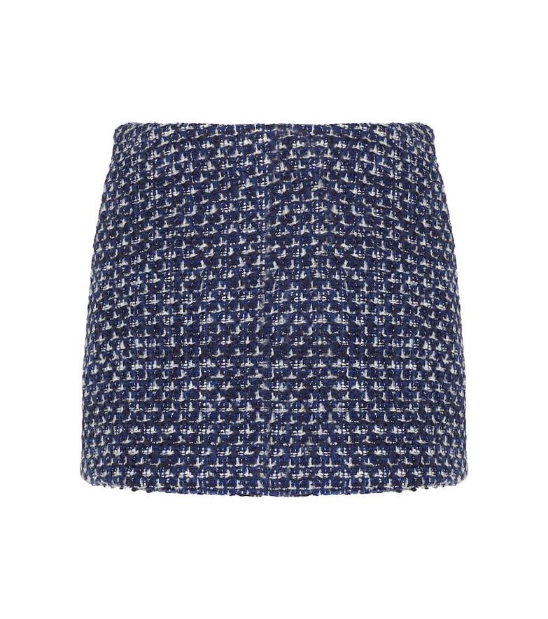 Valentino Optical V tweed miniskirt in blue