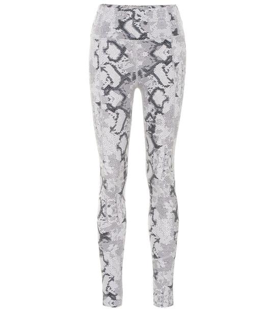 Varley Bedford snake-print leggings in grey