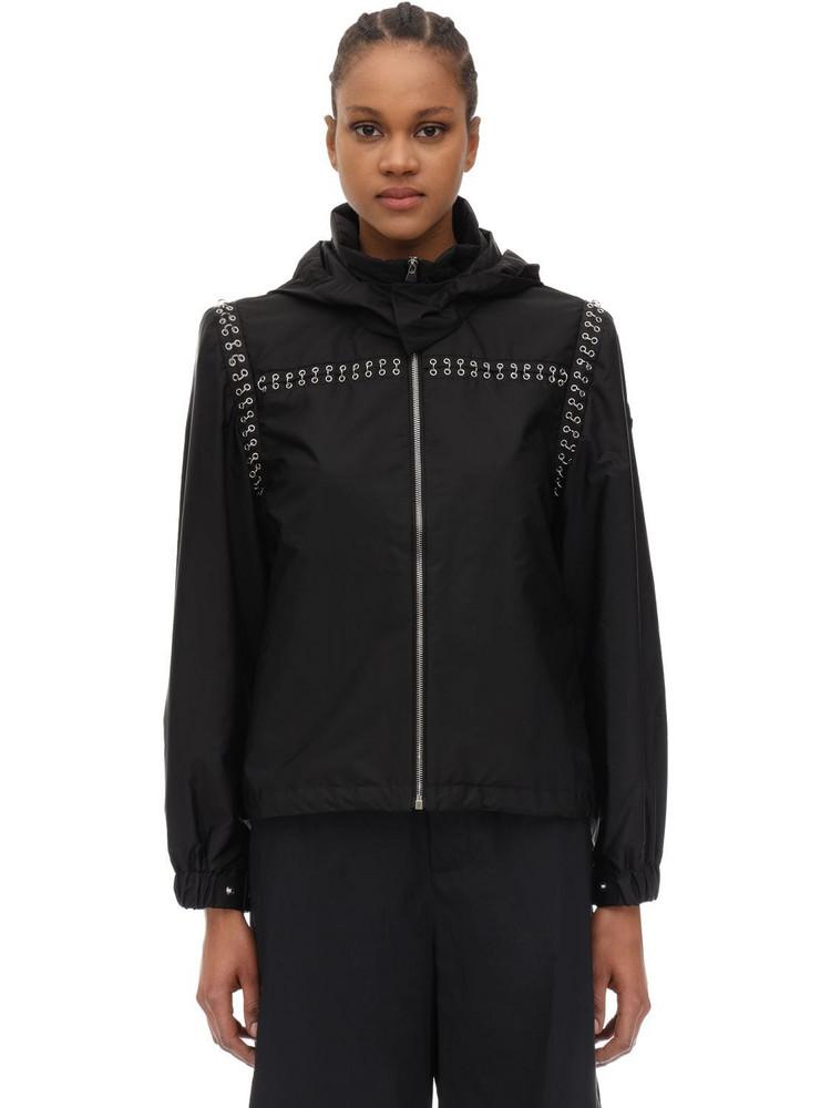 MONCLER GENIUS Noir Bronze Embellished Nylon Jacket in black