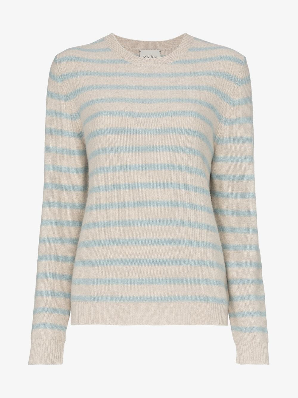 Le Kasha Touques ribbed cashmere jumper in blue / beige