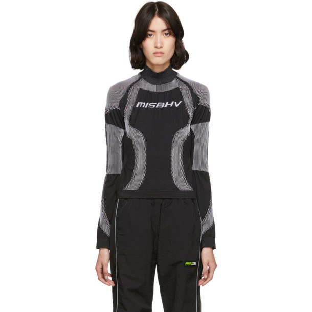 MISBHV SSENSE Exclusive Black and White Active Turtleneck