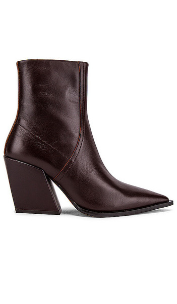 Alias Mae Knight Bootie in Brown, Burgundy in chocolate