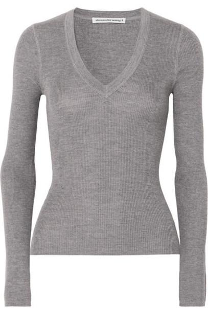 alexanderwang.t - Merino Wool Sweater - Light gray
