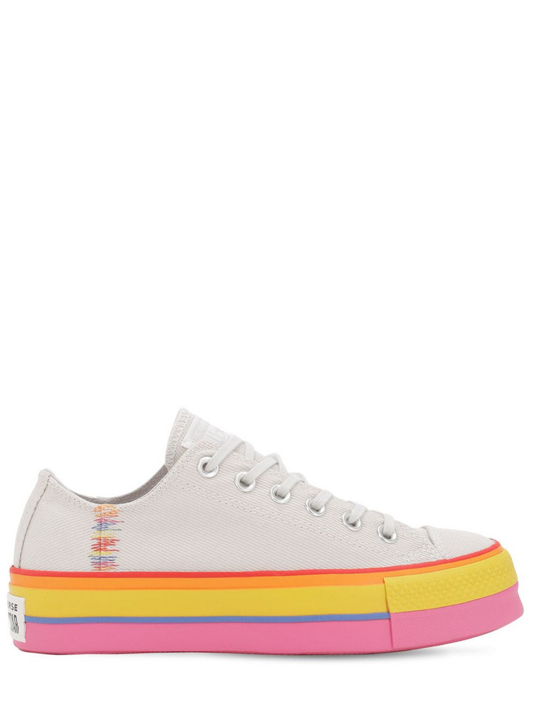 CONVERSE Chuck Taylor All Star Lift Ox Sneakers in pink / white