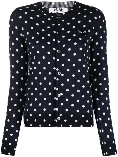 Comme Des Garçons polka dot-print jumper - Blue