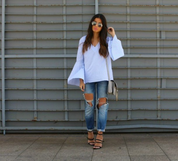 style by nelli blogger blouse jeans shoes
