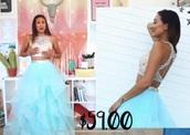 dress,prom dress,youtuber,blue dress,halter top