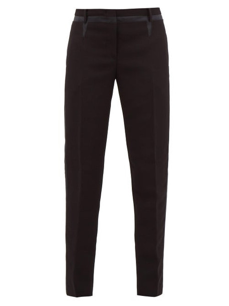 No. 21 - Side Stripe Crepe Slim Leg Trousers - Womens - Black