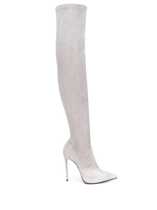Le Silla Eva stretch boots in grey