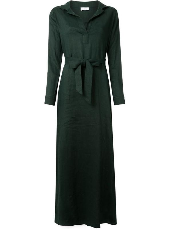 Pour Les Femmes maxi shirt dress in green