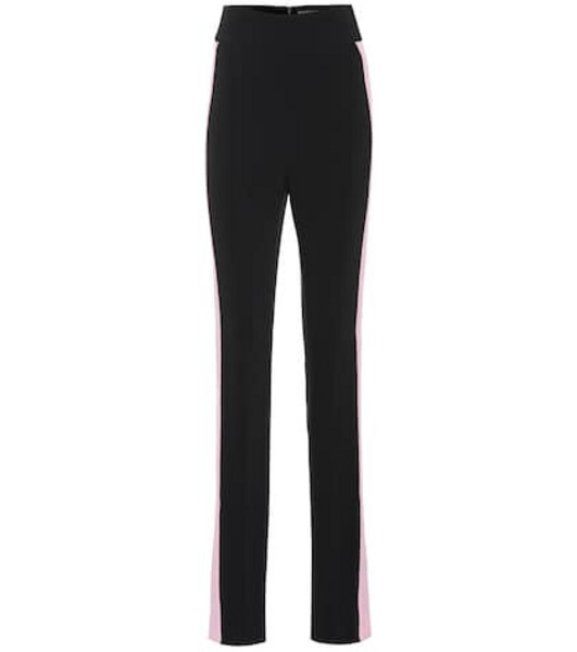 David Koma High-rise skinny cady pants in black