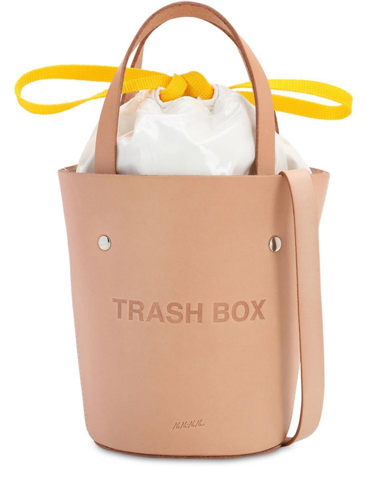 NANA NANA Sm Trash Box Leather Bucket Bag in natural