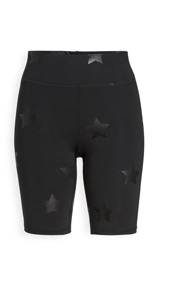 Terez Foil Printed Bike Shorts in black