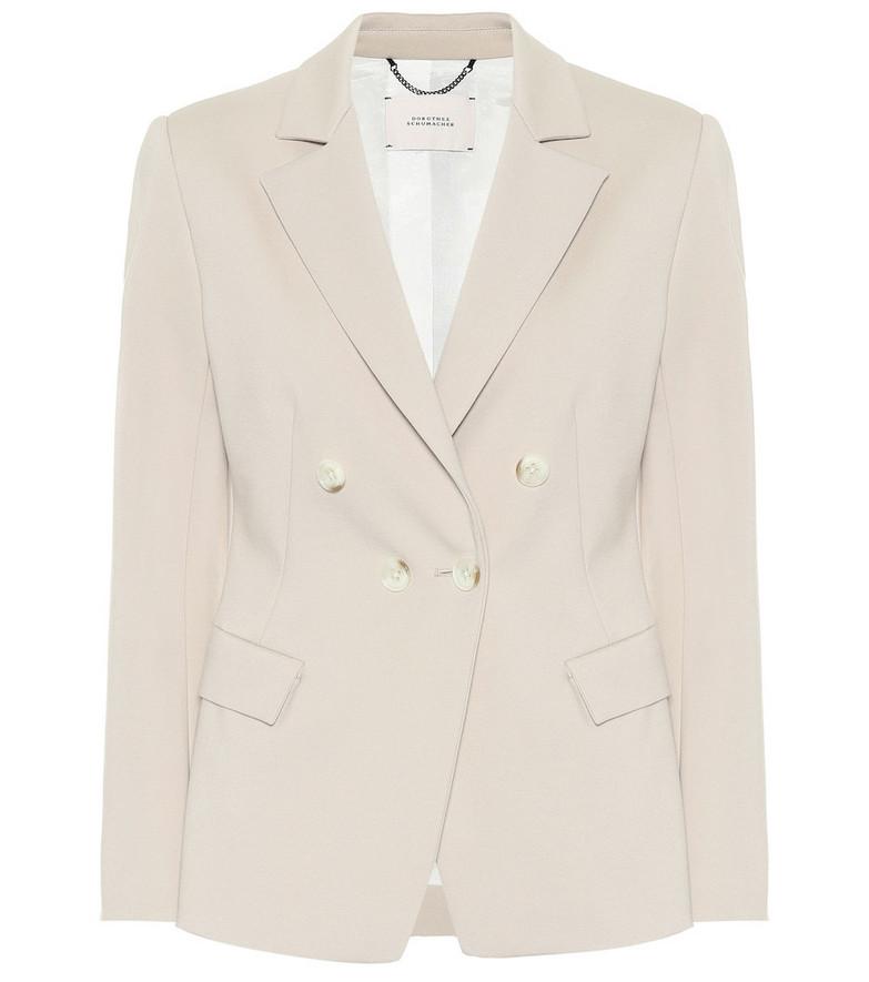 Dorothee Schumacher Emotional Essence double-breasted blazer in beige