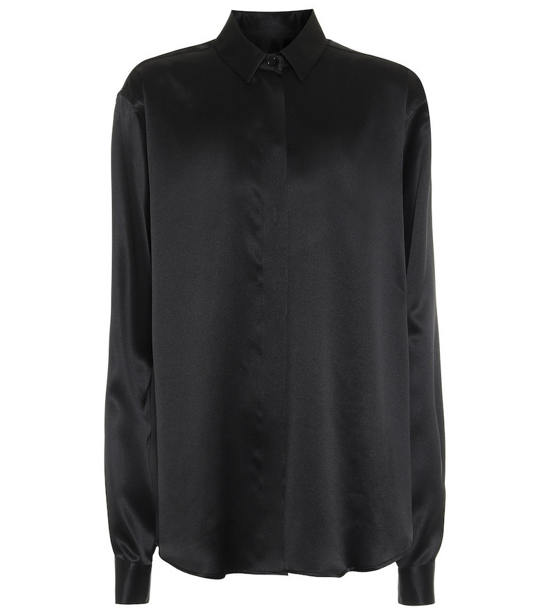 Saint Laurent Silk-satin shirt in black