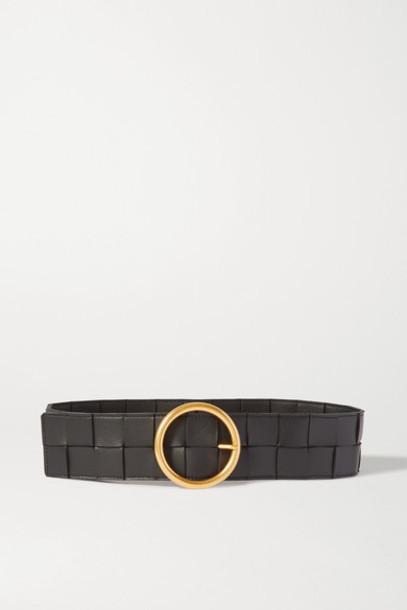 Bottega Veneta - Intrecciato Leather Belt - Black
