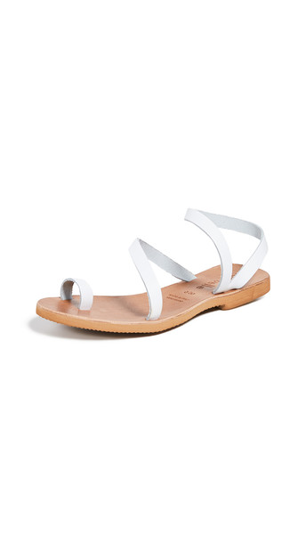 Cocobelle Crescent Strappy Sandals in white