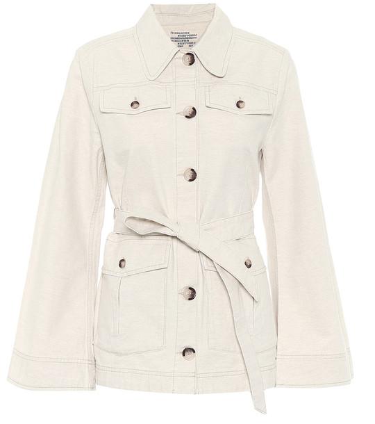 Baum und Pferdgarten Bianna cotton and linen jacket in beige