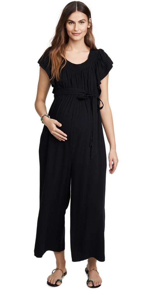 Ingrid & Isabel Wide Leg Maternity Jumpsuit in black