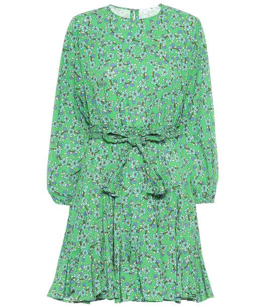 RHODE Ella floral cotton minidress in green