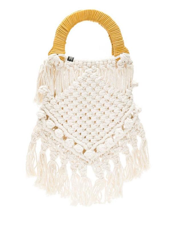Nannacay Lotus crochet bag in neutrals