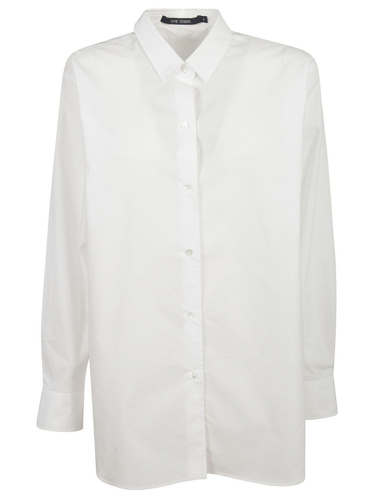 Sofie D'hoore Long Length Buttoned Shirt in white