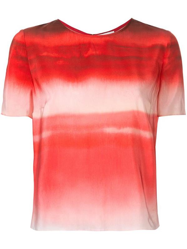 Ingie Paris gradient effect blouse in red