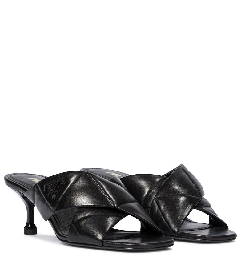 Prada Leather sandals in black