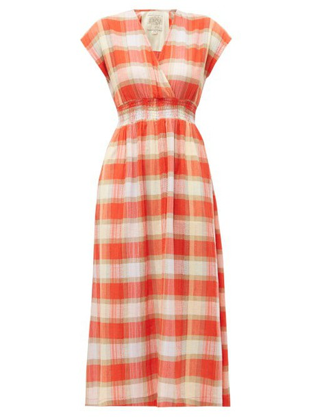 Ace & Jig - Faye Picnic Checked Cotton Dress - Womens - Red
