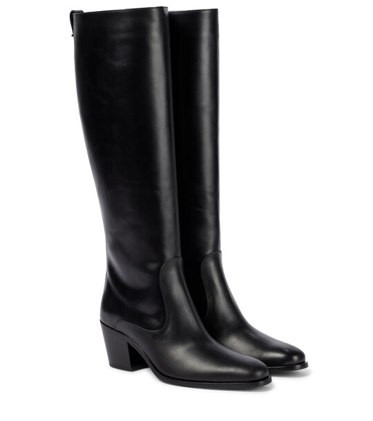 Tod's Leather knee-high boots in black