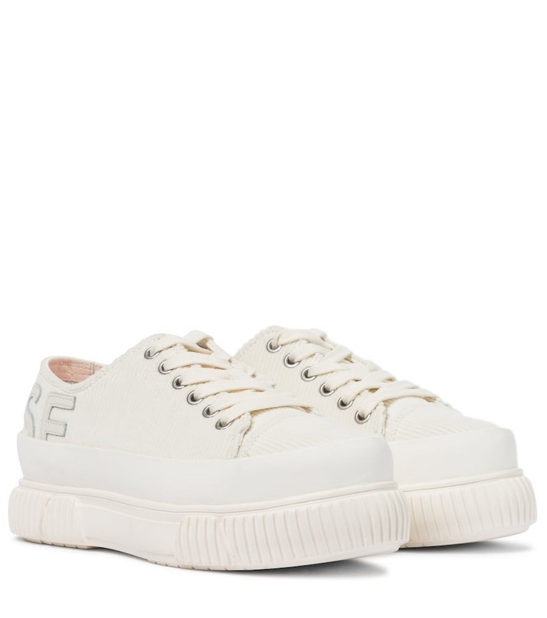 Monse x Both corduroy platform sneakers in white