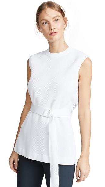 Tibi Sleeveless Pullover Tunic in white