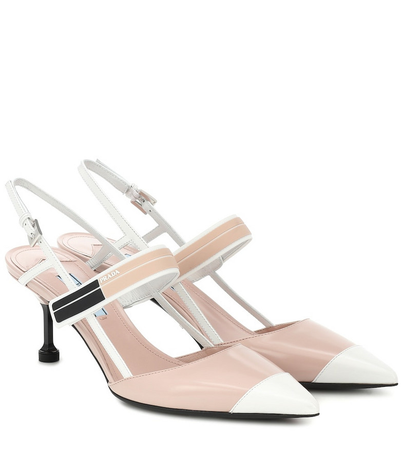 Prada Leather slingback pumps in pink