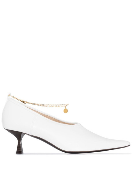 Stella McCartney 45 Chain pumps in white