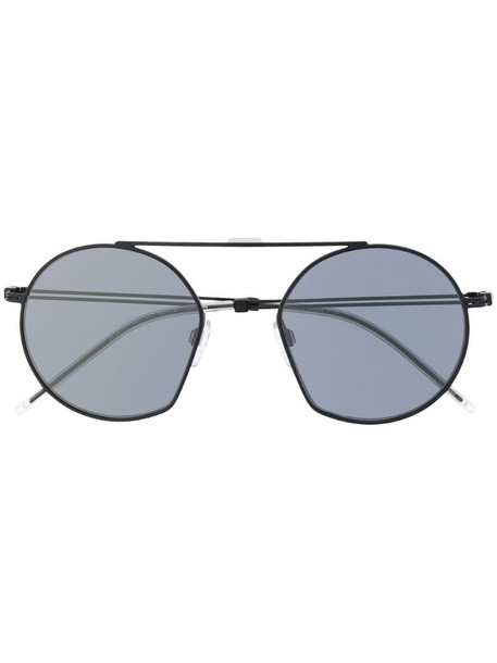 Emporio Armani round frame tinted sunglasses in black