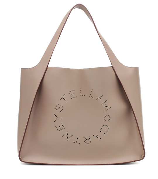 Stella McCartney Stella Logo tote in beige