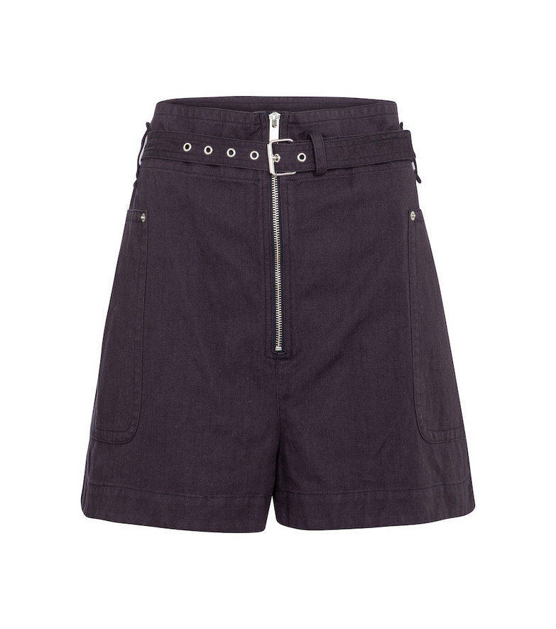 Isabel Marant, Étoile Parana cotton and linen Bermuda shorts in blue