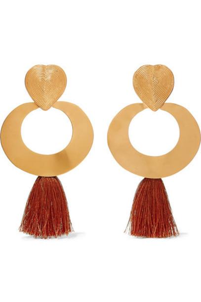 Johanna Ortiz - Paula Mendoza & Cano Olive Trees Fringed Gold-tone Earrings