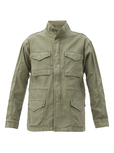 Frame - Flap-pocket Cotton Utility Jacket - Womens - Khaki