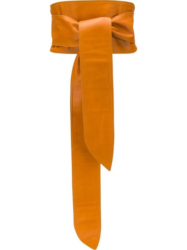 Yves Saint Laurent Pre-Owned 1970s waist belt in orange