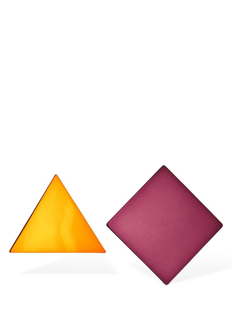 MISSONI Mismatched Geometrical Clip-on Earrings in purple / yellow