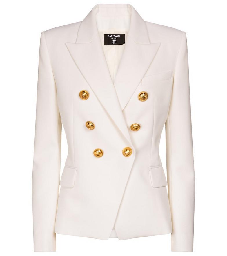 Balmain Exclusive to Mytheresa – Wool blazer in white