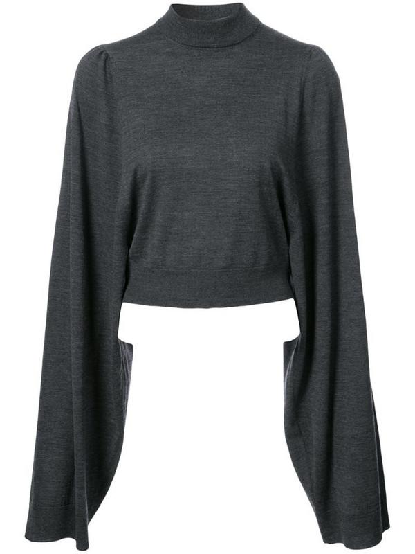 Vera Wang classic long-sleeve sweater in black