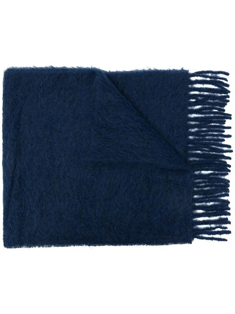 Marni textured knitted scarf in blue