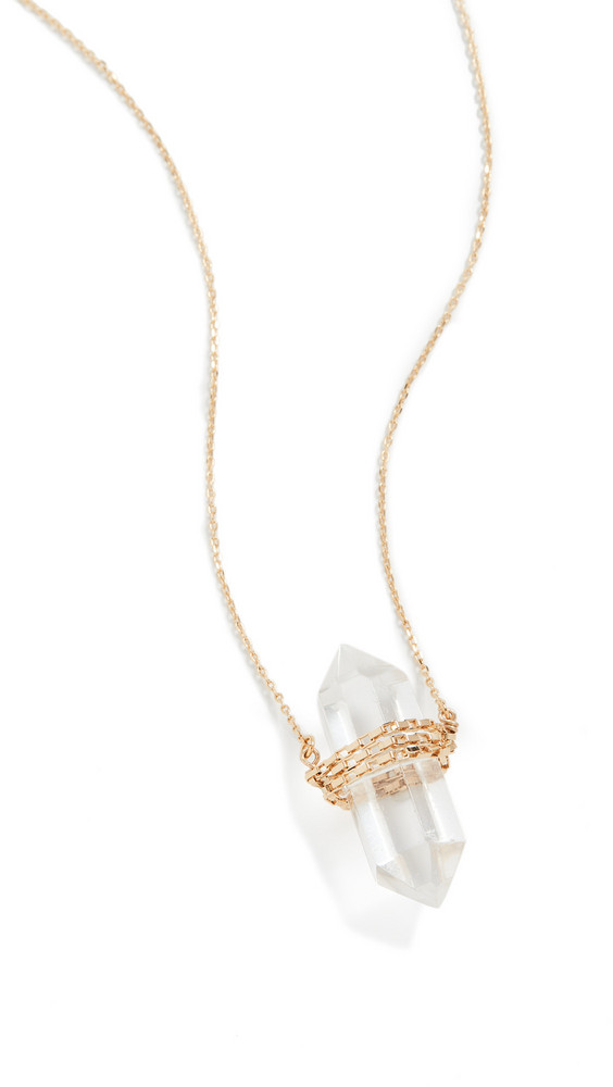 Cloverpost Positive Necklace in gold / yellow