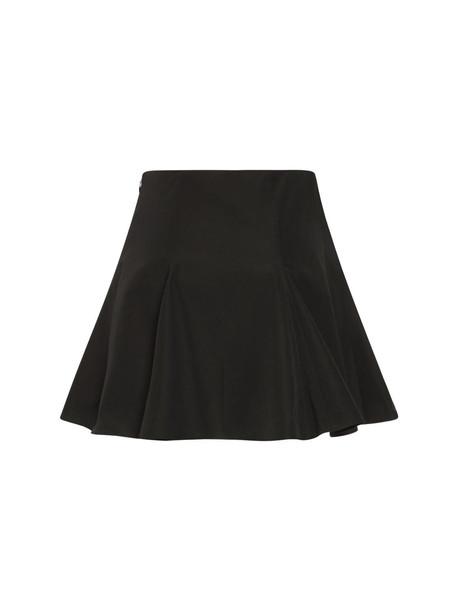 VALENTINO Micro Faille Mini Skirt in black