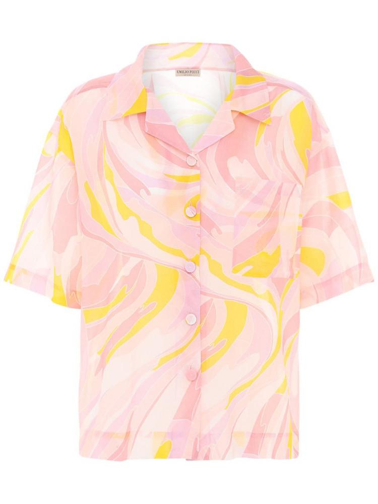 EMILIO PUCCI Printed Cotton & Silk Shirt